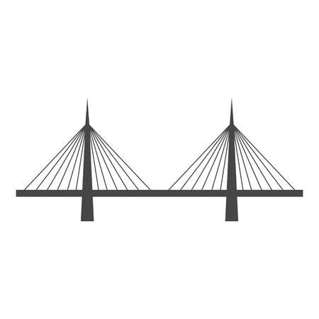 Bridge icon in vector Illustration.