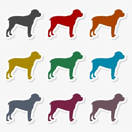 Dog icon flat - Illustration. Illustration