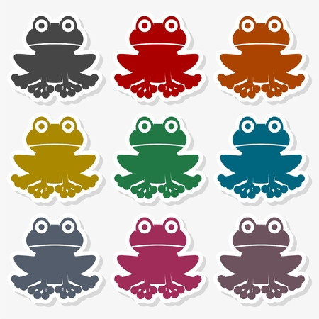 Frog icon logo - Illustration Illustration