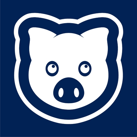 Vector pig icon - Illustration