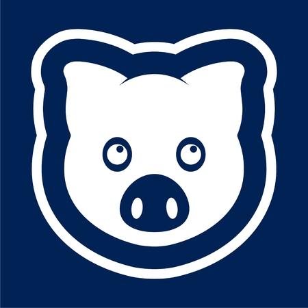 Vector pig icon - Illustration