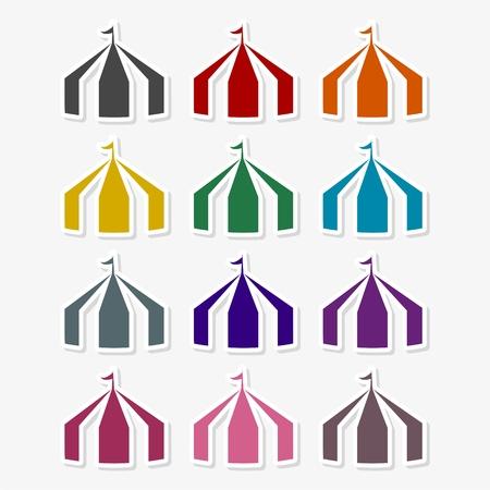 Tent icon vector - Illustration Vettoriali