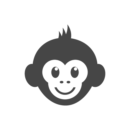 Monkey face icon - vector Illustration Vettoriali