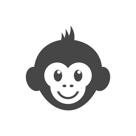 Monkey face icon - vector Illustration Illustration