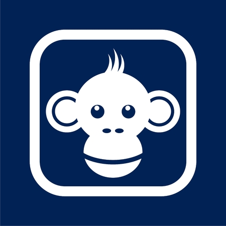 Monkey icon - Illustration Illustration
