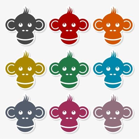 Monkey icon - Illustration Illustration