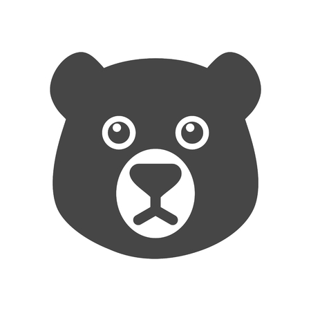 Bear head mascot icon - Illustration