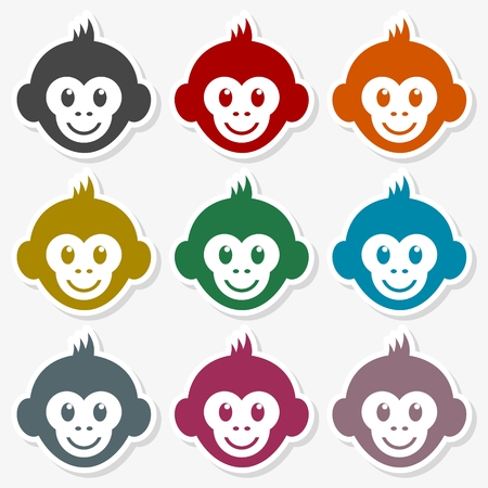 Monkey face icon - Illustration