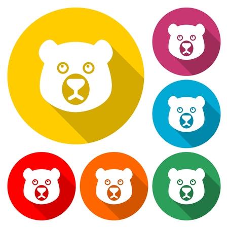 Bear head mascot - Illustration