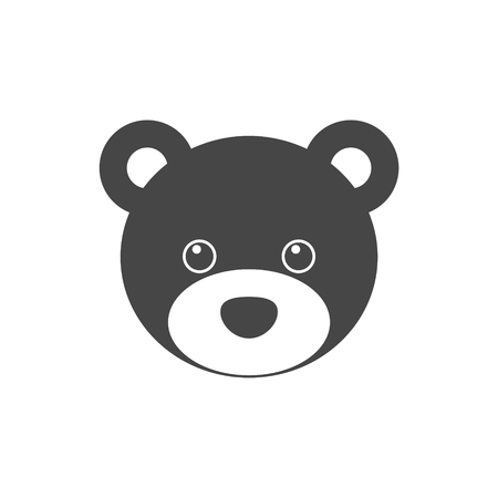 Bear head icon - vector Illustration