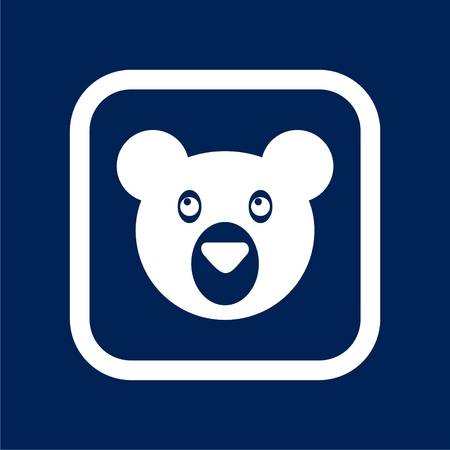 Bear head mascot - Illustration