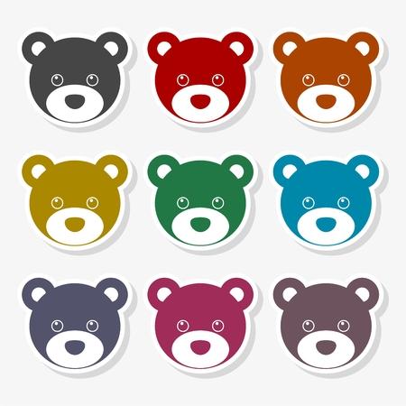 Bear head icon - vector Illustration
