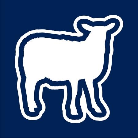 Sheep icon. Farm animal vector illustration