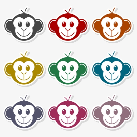 Monkey face icon - vector Illustration Ilustrace
