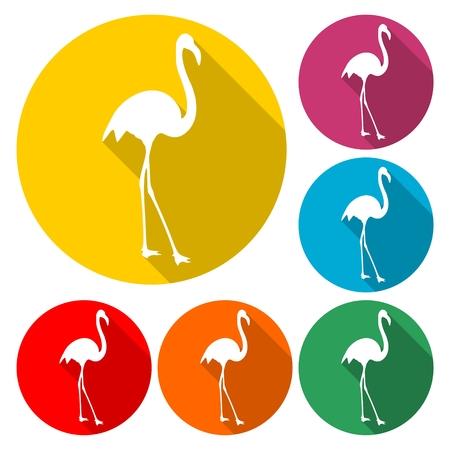 Flamingo Icon Illustration