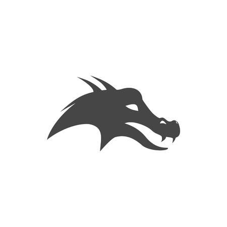 Icône tête de dragon Banque d'images - 94539946