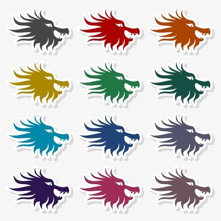 Dragon mascot icon vector Illustration