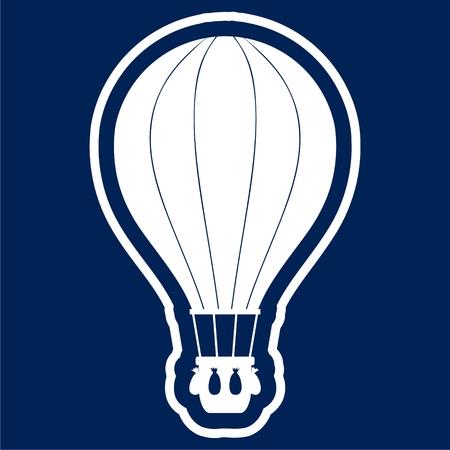 Flat Air Balloon icon - vector Illustration
