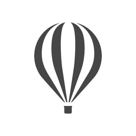 Flat Air Balloon icon Illustration. Illustration