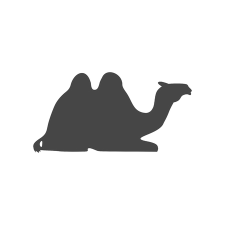 Sitting Camel Silhouette icon - vector Illustration