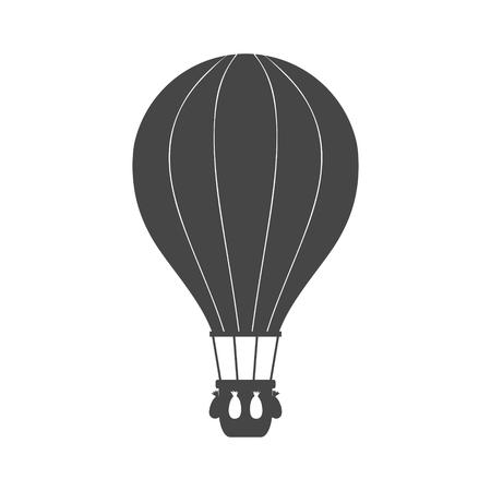Flat Air Balloon icon vector Illustration