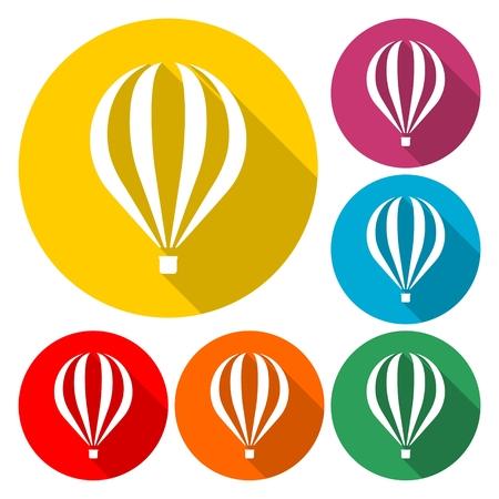 Flat Air Balloon icon Illustration