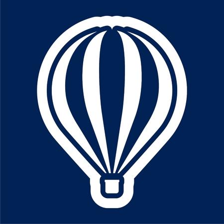 Flat air balloon icon illustration.