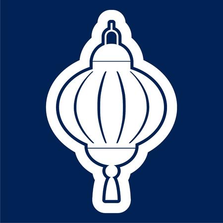 Chinese Lantern icon - Vector Illustration