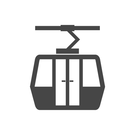 Vector Ski Lift Icon - Illustration