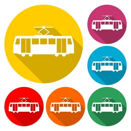 Streetcar Symbol icon Vector illustration.  イラスト・ベクター素材