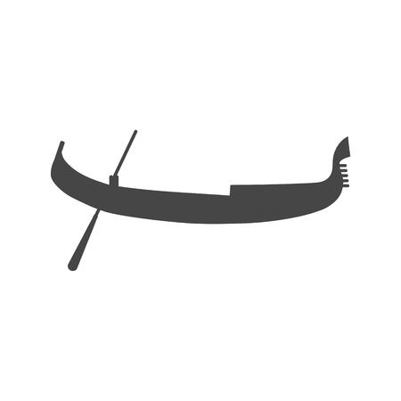 Simple Gondola icon Illustration