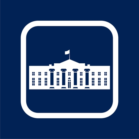 White House icon - Vector Illustration Illustration