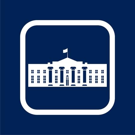 White House icon - Vector Illustration Illustration