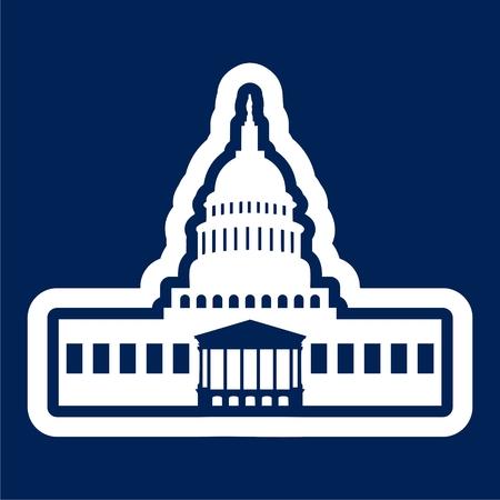 Capitol Building in Washington - Illustration Illustration