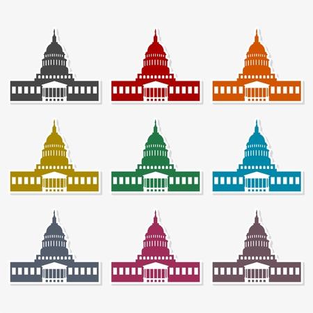 Capitol Building in Washington - Illustration Çizim