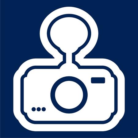 Camera vector illustration, Car digital video recorder