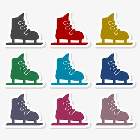 Skate simple icon - Illustration 向量圖像