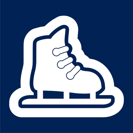 Skate web icon - Illustration