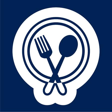 Cutlery icons vector illustration. Illustration