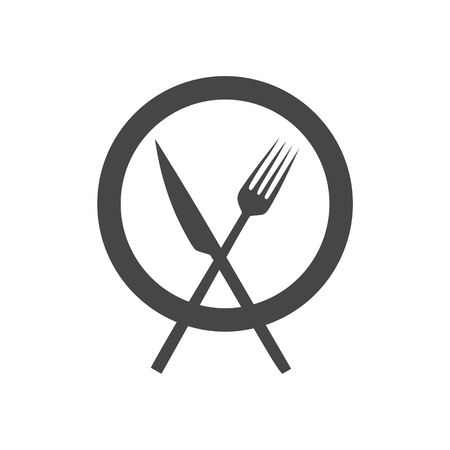 Cutlery icons on white background - vector illustration.