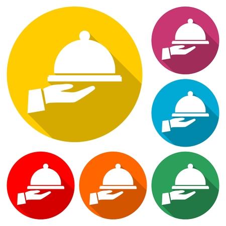 Food serving tray - Vector illustration. Illustration
