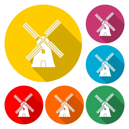 Old windmill icon