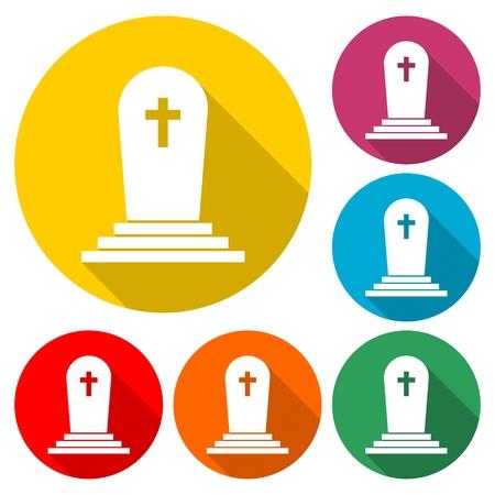 Gravestone Circle Icon - Illustration Illustration