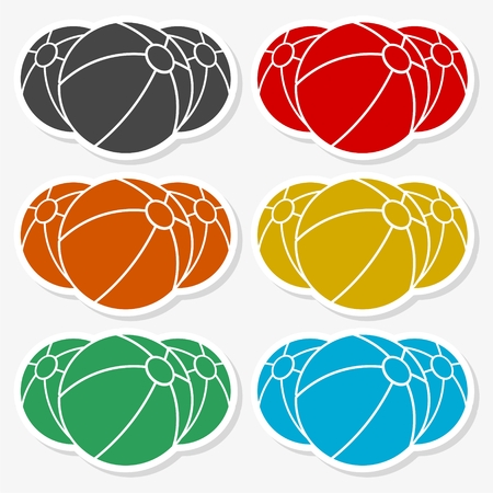 Colored beach ball images