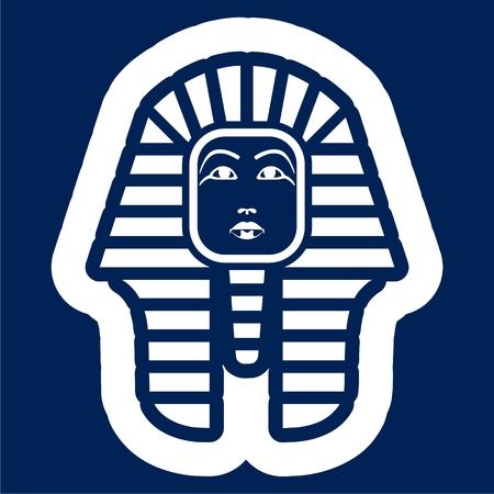Pharaoh head illustration.