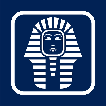 Pharaoh head illustration. Stok Fotoğraf - 95769220