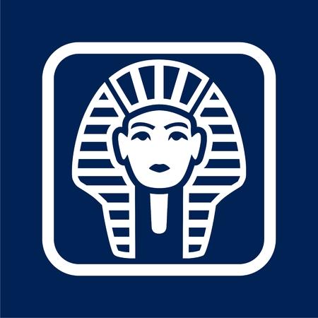 Pharaoh icon - simple vector illustration.