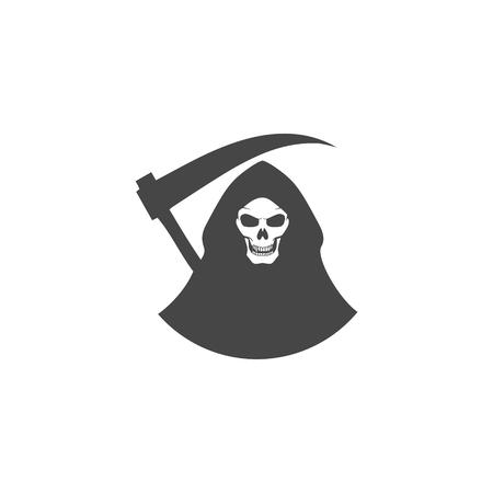 Death black icon vector illustration.