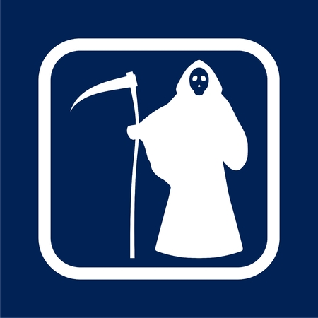 Reaper with scythe icon - vector illustration.