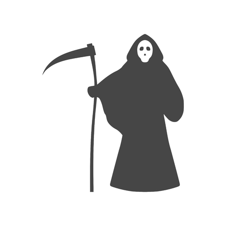 Reaper with scythe icon - vector Illustration